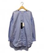 LAUTRE AMONT(ロートレアモン)の古着「比翼シャツ」 ブルー