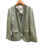 ()の古着「リネンライクカラーレスジャケット」 グリーン