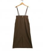 allureville(アルアバイル)の古着「ツイルサロペットスカート」|ブラウン