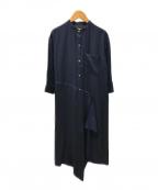 LE PHIL(ル フィル)の古着「ブラウスワンピース」 ネイビー