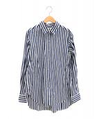 ()の古着「galant regularストライプシャツ」 ホワイト×ブルー