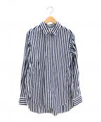 DEUXIEME CLASSE(ドゥーズィエム クラス)の古着「galant regularストライプシャツ」|ホワイト×ブルー