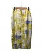AEWEN MATOPH(イウエン マトフ)の古着「タイトスカート」|イエロー