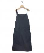 BASERANGE(ベースレンジ)の古着「ジャンパースカート」|ブラック