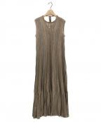 LAGUNA MOON(ラグナムーン)の古着「シアーレインボーニットワンピース」|ブラウン