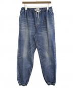 CELINE()の古着「21SS トラッシュウォッシュ ジョガージーンズ」 インディゴ