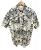 Saint Laurent Paris(サンローランパリ)の古着「メキシカンパーティーシャツ」|アイボリー×ブラック