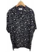 Saint Laurent Paris(サンローランパリ)の古着「スタープリントシルクシャツ」|ブラック
