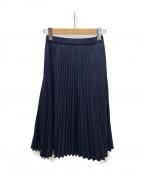 KUMIKYOKU(クミキョク)の古着「T/Cライトプリーツスカート」|ネイビー