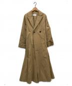 ETRE TOKYO(エトレトウキョウ)の古着「サイドスリットロングコート」|ベージュ