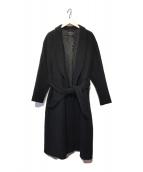 ()の古着「Super140'sショールカラーラップコート」 ブラック