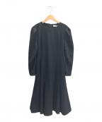 CELFORD()の古着「タックポンチワンピース」|ブラック