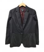 Paul Smith BLACK(ポールスミスブラック)の古着「ラムレザー切替ジャケット」|ブラック