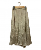 ELENDEEK(エレンディーク)の古着「アセテートウィングロングスカート」|ベージュ