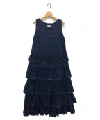 maturely(マチュアリー)の古着「Denim & Jacquard Western Dress」|インディゴ