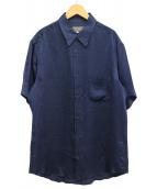 YohjiYamamoto pour homme(ヨウジヤマモトプールオム)の古着「半袖シャツ」 ネイビー