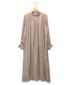 Loungedress(ラウンジドレス)の古着「ショルダーレースロングワンピース」 ブラウン