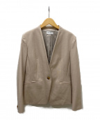 PLST(プラステ)の古着「ノーカラージャケット」|ブラウン