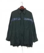 Essay(エッセイ)の古着「カットオフシャツジャケット」 オリーブ