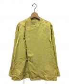 INSCRIRE(アンスクリア)の古着「サテンチャイナジャケット」|イエロー
