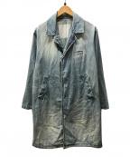 Dulcamara(ドゥルカマラ)の古着「ユーズド加工デニムコート」 インディゴ