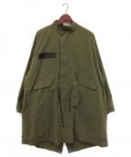 My Beautiful Landlet(マイビューティフルランドレット)の古着「ripstop military coat」|オリーブ