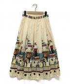 Star OF HOLLYWOOD(スターオブハリウッド)の古着「sea voyage スカート」|ベージュ