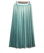 Gabardine K.T()の古着「プリーツスカート」 グリーン