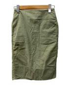 ()の古着「SOFIE/バックサテンタイトロングスカート」 オリーブ