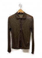 Ys(ワイズ)の古着「シースルーシャツ」|ブラウン