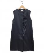 YORI(ヨリ)の古着「ブライトフリルジレ」|ネイビー