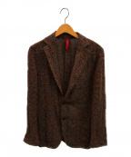 ernesto(エルネスト)の古着「ネップドチェック2Bジャケット」|レッド×グリーン
