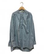 TELA(テラ)の古着「バンドカラーストライプPOシャツ」