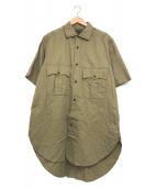 ()の古着「ブリティッシュアーミーシャツ」 カーキ