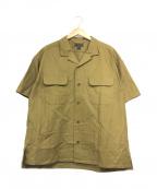 NIGEL CABOURN(ナイジェルケーボン)の古着「オープンカラーシャツ」 ベージュ
