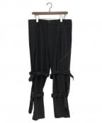 s'yte(サイト)の古着「Bandage Tapered Pants」 ブラック