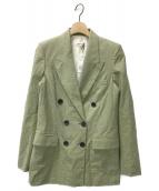 ()の古着「ダブルブレストジャケット」|イエロー