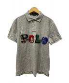 ()の古着「APPLIQUE LOGO POLO/ポロシャツ」 グレー
