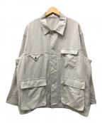 URU(ウル)の古着「COVERALL JACKET/Ecru」|ライトグレー