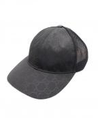 GUCCI()の古着「メッシュキャップ」|ブラック