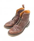 Tricker's(トリッカーズ)の古着「ウィングチップブーツ」 ブラウン