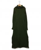YOHJI YAMAMOTO(ヨウジヤマモト)の古着「ニットワンピース」|グリーン