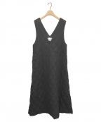 F/CE.(エフシーイー)の古着「ウールキルティングワンピース」|ブラック