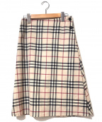 BURBERRY LONDON()の古着「[OLD]ノヴァチェックラップスカート」|ベージュ