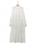 pelleq(ペレック)の古着「ロングシャツドレス」 ホワイト