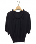 FENDI()の古着「カシミヤシルク半袖ニット」|ブラック