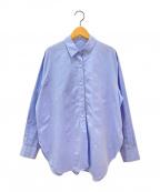 Plage(プラージュ)の古着「R'IAMラウンドヘムシャツ」|ブルー