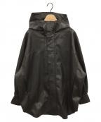 STUNNING LURE(スタニングルアー)の古着「フェイクレザーフーディジャケット」|ダークブラウン
