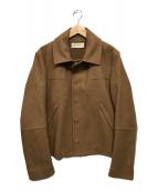 ()の古着「カシミヤ混ウールハーフコート」|ブラウン