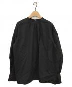 UNITED ARROWS(ユナイテッドアローズ)の古着「タックパフスリーブブラウス」|ブラック